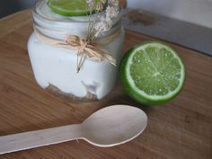 Key Lime and Coconut Pie in a Jar Raw version of course