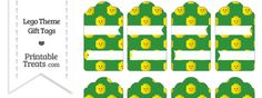 Green Lego Theme Gift Tags