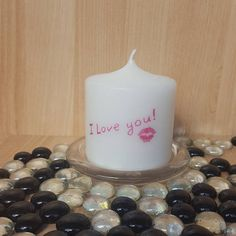 """Scented """"Just Sayin'"""" pillar candle#any occasion#i love you#kisses#never left unsaid#words mean everything#true affection and romance      Available in these lovely fragrances:    Black Cherry - A strong aromatic scent of ripened sweet black cherries with faint undertones of musk. All the sweetness of Cherry while adding rum notes and deep red tartness.    Blueberry Muffin, The fragrance is juicy and mouth-watering, and makes an ideal present for someone who loves a fruity, warm fragrance…"""