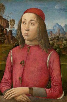 Agnolo di Domenico del Mazziere or Donnino di Domenico del Mazziere  Portrait of a Youth, c. 1495/1500