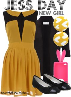 Inspired by Zooey Deschanel as Jess Day on New Girl. Fashion Tv, Cute Fashion, High Fashion, Zooey Deschanel, New Girl Style, My Style, Jess New Girl, Taylor Swift, Jessica Day