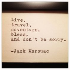 Jack Kerouac Framed Quote Made on Typewriter by farmnflea on Etsy, $12.00