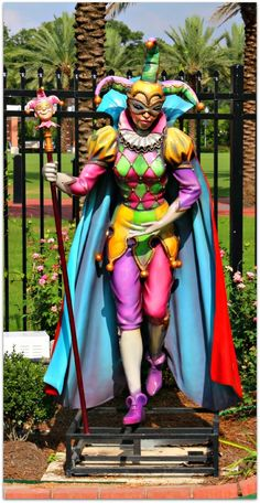 Statue City Park Putt Putt, Mardi Gras  Still would be an awesome costume!
