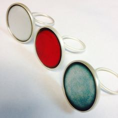 Enamel ring collection