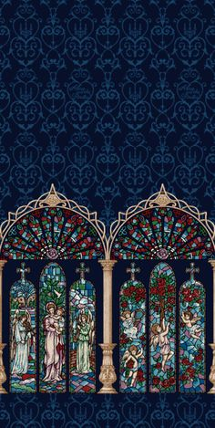 Alice and the Pirates :: Gloria Stained Glass Lolita Print