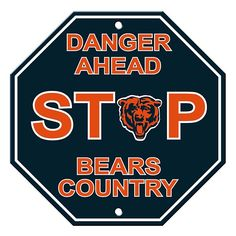 Nfl Chicago Bears, Bears Football, Monster Party, Man Cave Nfl, Bear Signs, Nfl Arizona Cardinals, Plastic Signs, Bear Decor, Parking Signs