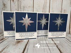 How to Make Stampin' Up! Christmas Cards with Star of Light Stamp Set - ...