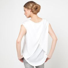 T-shirt manches courtes bi-matière lin et viscose SOFT GREY