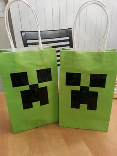 Minecraft Treat Bags For Dakotas 7th Birthday Party