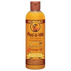 Feed-N-Wax 16 oz bottle may be used every month or so, or whenever the finish looks faded or dry and enhances the natural beauty and depth of grain on all woods. Can be used on finished or unfinished woods using the power of real orange oil along with the finest waxes available. Feed-N-Wax has been developed to be the perfect follow-up to Restor-A-Finish when you want to maintain and preserve the beauty of your restored finish.