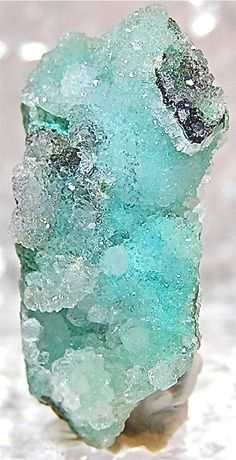 Looks like ice. --> Druzy Chrysocolla Natural Mineral Crystal by FenderMinerals