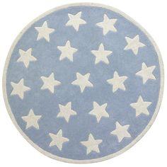 Matta i ull - blå med stjärnor 120 cm - Kids Concept Star Rug, Kids Rugs, Concept, Blue, Home Decor, Nursery Ideas, Google, Products, Nursery Room Ideas
