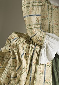 Detail of Robe a la polonaise ca. 1775  From LACMA via Fripperies and Fobs