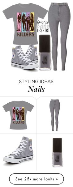 """band T-shirt"" by j-n-a on Polyvore featuring Miss Selfridge, Jin Soon, Converse, bandtshirt and bandtee"