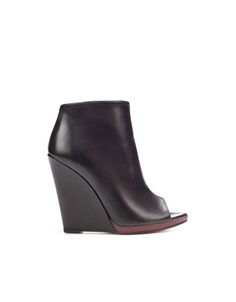 zara peep toe wedge ankle boot. wedges are really growing on me.
