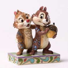 *CHIP 'N' DALE ~ 2012 Jim Shore Disney Traditions, Nutty Buddies - Chip & Dale Figure