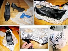 Nelle Creations: DIY:: Lace Heels