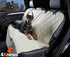 Dog Seat Cover Rear Bench Seat For Cars Trucks and SUVs (Regular Tan)