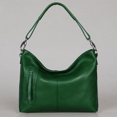 Leather bag Max small green---Adeleshop handmade handbag Messenger Diaper bag Shoulder bag Tote  Hip bag Women. $135.00, via Etsy.  Love, love, love this color and everything about this bag!!!