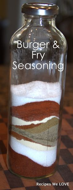 Burger and Fry Seasoning: can control the salt. Great on meats, veggies & in dips
