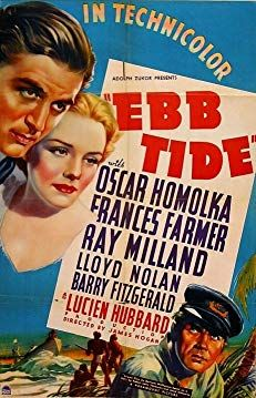Ray Milland, Frances Farmer, and Oskar Homolka in Ebb Tide Paramount Movies, Paramount Pictures, Sink The Bismarck, Frances Farmer, Two Movies, Horror Films, Horror Art, Adventure Movies, Movie Props