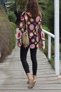 Canto do Pano Artesanato: Blusa Colorida em Crochê