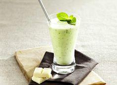 Milk shake poire chocolat blanc basilic