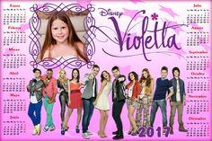 Calendarios para Photoshop: Calendario del 2017 de Violetta para Photoshop (Ps...