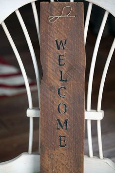 WELCOME Sign - Upcycled, Rustic, Primitive, Country, Handmade, Salvaged Wood, Wall Hanging Home Decor