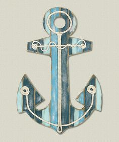 Loving this Wood Anchor Wall Art on #zulily! #zulilyfinds