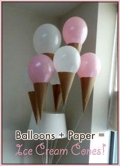 Ice cream party ballons!