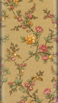 Hand Embroidery Patterns, Textile Patterns, Beaded Embroidery, Embroidery Stitches, Machine Embroidery, Mobile Wallpaper, Flower Wallpaper, Botanical Wallpaper, Wallpaper Ideas