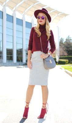 Suede Skirt_Uniqlo Sweater_What Would V Wear
