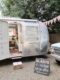 The Gladys, a vintage pop-up store in an adorable airstream.
