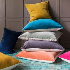 Beautiful velvet and linen cushions