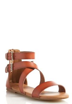 Cato Fashions Wide Width Double Buckle Gladiator Sandals #CatoFashions