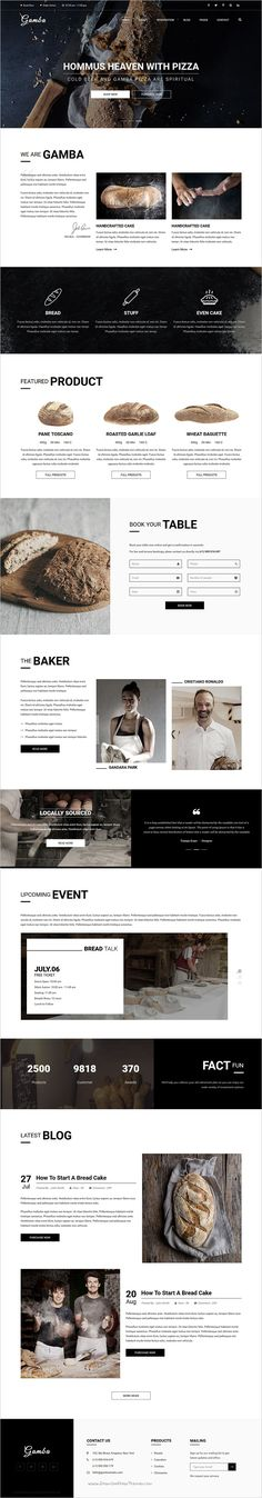Gamba is a modern, creative & fully responsive 6in1 #bootstrap template for #webdev food, #bakery, cafe, pub & restaurant websites download now➩ https://themeforest.net/item/gamba-bakery-cakery-pizza-pastry-shop-html-template/19256459?ref=Datasata
