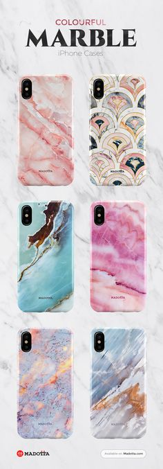 Pastel Colourful Marble iPhone X Cases by #Madotta View more designs at : https://madotta.com/collections/marble-iphone-cases/?utm_term=caption+link&utm_medium=social&utm_source=pinterest&utm_campaign=Package+Poster