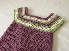 How to crochet a little girl's square neck dress /  tunic - YouTube