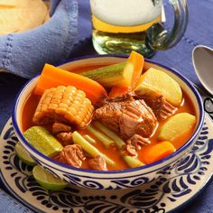 authentic mexican recipes for mole beef soup chile vefetables Authentic Mexican Recipes, Mexican Food Recipes, Ethnic Recipes, Mexican Cooking, Keto Recipes, Mexican Kitchens, Mexican Dishes, Instant Pot, Traditional Mexican Food