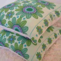 Scandinavian vintage fabric - made into cushions by Jodi-jo Retro