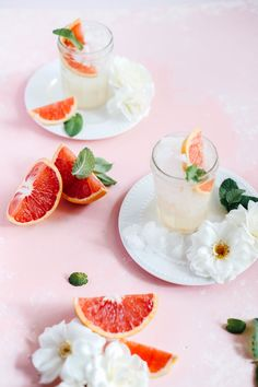 Grapefruit White Wine Spritzers - a great summer cocktail! Refreshing Summer Cocktails, Healthy Cocktails, Easy Cocktails, Cocktail Recipes, Drink Recipes, Sweets Recipes, Yummy Drinks, Keto Recipes, Desserts