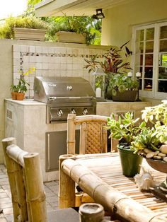 Take Cooking Outdoors - Perfect for the ambience we want to create - practical but outdoorsy and homey.