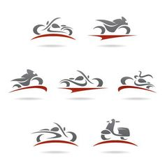 Illustration of Black motorcycle silhouette vector art, clipart and stock vectors. Bike Tattoos, Motorcycle Tattoos, Motorcycle Icon, Motorcycle Helmets, Motocross Logo, Dj Logo, Bike Logo, Cars Coloring Pages, Banner Printing