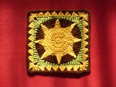 """Ravelry: African Sun 9"""" Square pattern by Edith E Smith"""