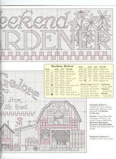 Schematic cross stitch Gardens Galore 3/4