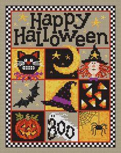 Happy Halloween - Cross Stitch Pattern