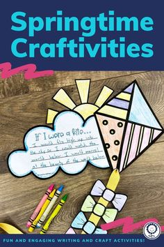 You will receive 87 pages of spring craftivity and writing templates. There are multiple craftivities and writing prompts included. Each writing prompt comes with two different line sizes to meet your classroom needs. Perfect for kindergarten, 1st, 2nd, 3rd, 4th, and 5th grade! #springtime #spring #craftivities Writing Activities, Craft Activities, Different Lines, 5th Grade Classroom, Spring Activities, 5th Grades, Writing Prompts, Spring Time, Kindergarten