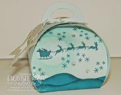 Stampin' Up! Curvy Keepsake Box Die & the Holiday Home Bundle. Debbie Henderson, Debbie's Designs.