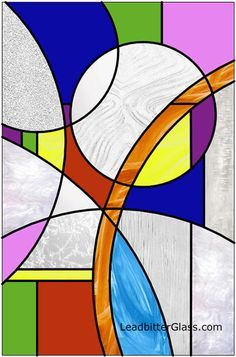 Modern Stained Glass Circles Design near Coventry Inspirational colourful art for PR with Perkes Modern Stained Glass, Stained Glass Quilt, Stained Glass Designs, Stained Glass Panels, Stained Glass Projects, Stained Glass Patterns, Mosaic Art, Mosaic Glass, Glass Wall Art